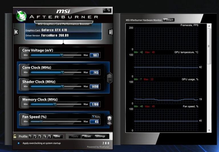 logiciel msi afterburner